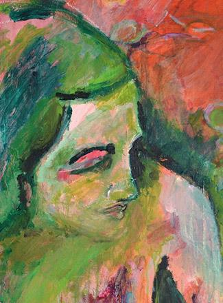 Acryl-Malerei Septemberfrau von Tina Krauß