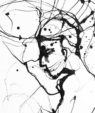 Tusche-Grafik No Nerd To Argue von Tina Krauß